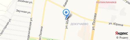 Риччи на карте Барнаула