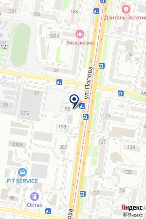 Шиномонтажная мастерская на Взлетной на карте Барнаула