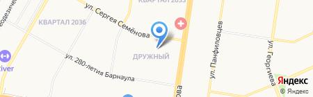 Жилищная коммунальная инициатива на карте Барнаула
