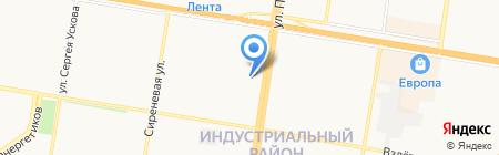 Декорэль на карте Барнаула
