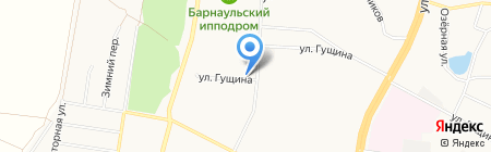 Магазин разливного пива на Кавалерийской на карте Барнаула