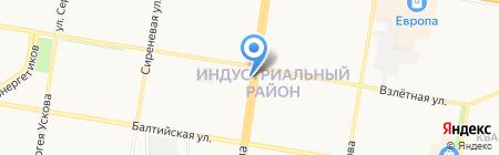 Киоск по продаже автотоваров на карте Барнаула
