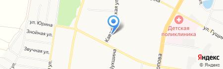 Виктория и Виктор на карте Барнаула