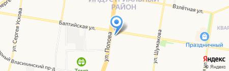 Николь на карте Барнаула
