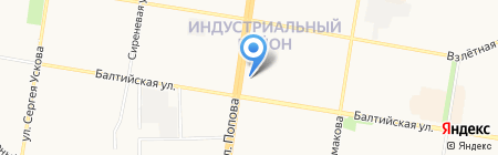 Хмельной якорь на карте Барнаула