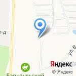 СТО на Кавалерийской на карте Барнаула