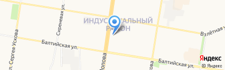 Эстэ на карте Барнаула