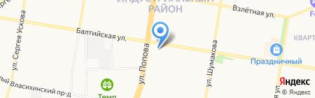 Эффект на карте Барнаула