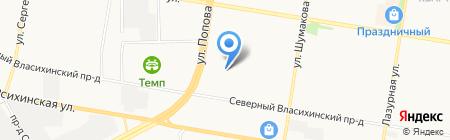 Обрамляйка на карте Барнаула