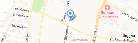 Хмельной пирс на карте Барнаула