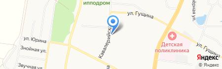 Хлебный на карте Барнаула