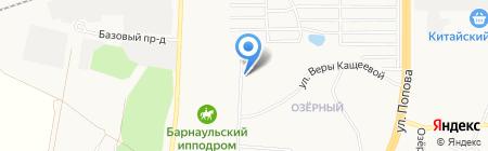 Золотой червонец на карте Барнаула
