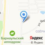 Золотой червонецъ на карте Барнаула