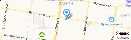 Взгляд на карте Барнаула