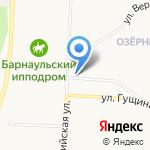 На Кавалерийской на карте Барнаула
