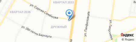 Сеть продуктовых минимаркетов на карте Барнаула