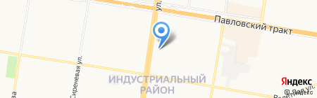 Павлин на карте Барнаула