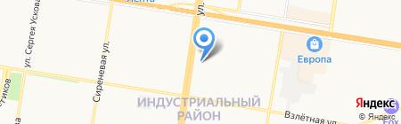Ромашка на карте Барнаула
