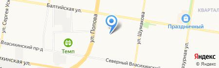 Балтика на карте Барнаула