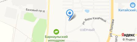 Магазин фруктов и овощей на Кавалерийской на карте Барнаула