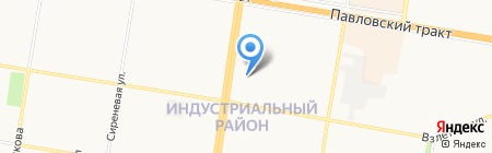 Охапка на карте Барнаула