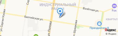 Адвокатский кабинет Попович Н.В. на карте Барнаула