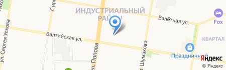 Мон Блан на карте Барнаула