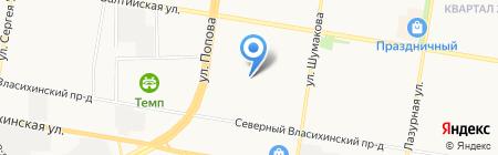 Средняя общеобразовательная школа №127 на карте Барнаула