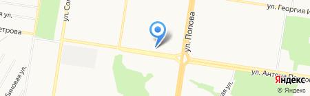 Паночка на карте Барнаула