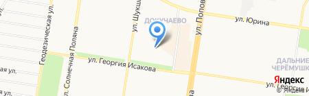 Детский сад №182 на карте Барнаула