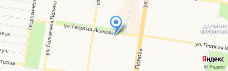 У фонтана на карте Барнаула