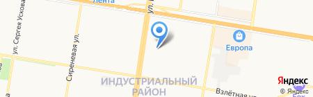 Теплое течение на карте Барнаула