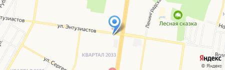 Автостоянка на карте Барнаула