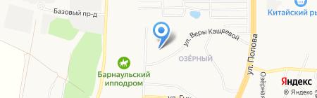 Айлант на карте Барнаула
