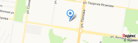 Детский сад №207 на карте Барнаула