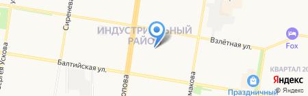 Индустриальное-2 на карте Барнаула