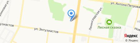 Мир шаров на карте Барнаула