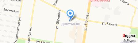 Ветеринарная клиника на карте Барнаула