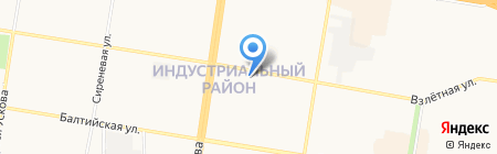 Шашлычная карта на карте Барнаула