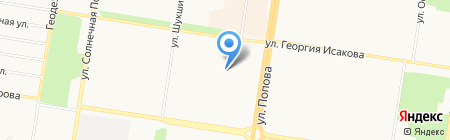 Детский сад №254 на карте Барнаула