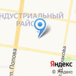 Ласточкино гнездышко на карте Барнаула