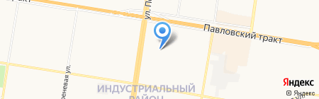Манекен на карте Барнаула
