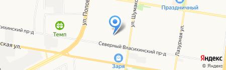 ЖСК №167 на карте Барнаула