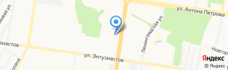 Юнга на карте Барнаула