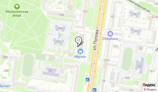 Галантей. Схема проезда в Барнауле