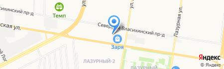 Янтарь на карте Барнаула