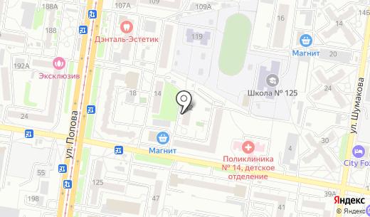 Любимый. Схема проезда в Барнауле