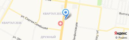 Автомасла на Попова на карте Барнаула