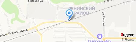 Магазин строительных материалов на карте Барнаула