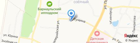 Средняя общеобразовательная школа №106 на карте Барнаула